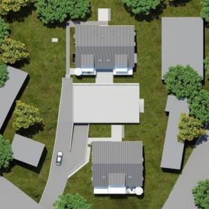 Lageplan einer Architekturvisualisierung