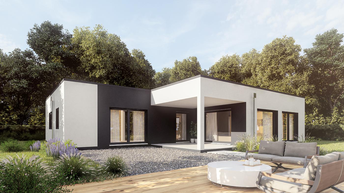 3D Rendering: Exklusiver Bungalow in Österreich