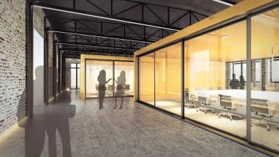 3D Visualisierung zum Wettbewerb eines Bürogebäudes zu Pfaff Nähmaschinen 76829 Landau