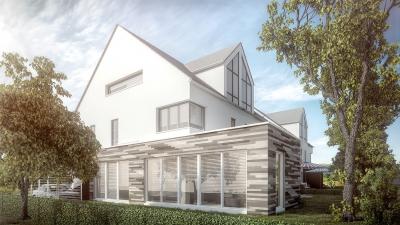 3D Visualisierung zur Errichtung von Wohnhäusern in 53347 Alfter, Im Wiesengrund