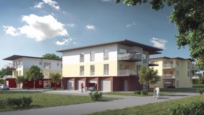 Architektur Visualisierung von 34 Eigentumswohnungen in 56235 RANSBACH-BAUMBACH