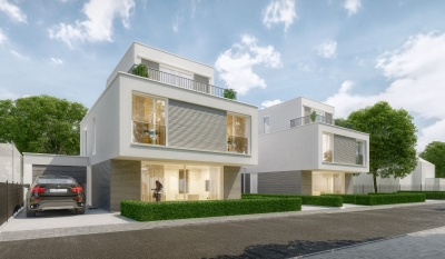 Architekturvisualisierung EFH in Feldmoching