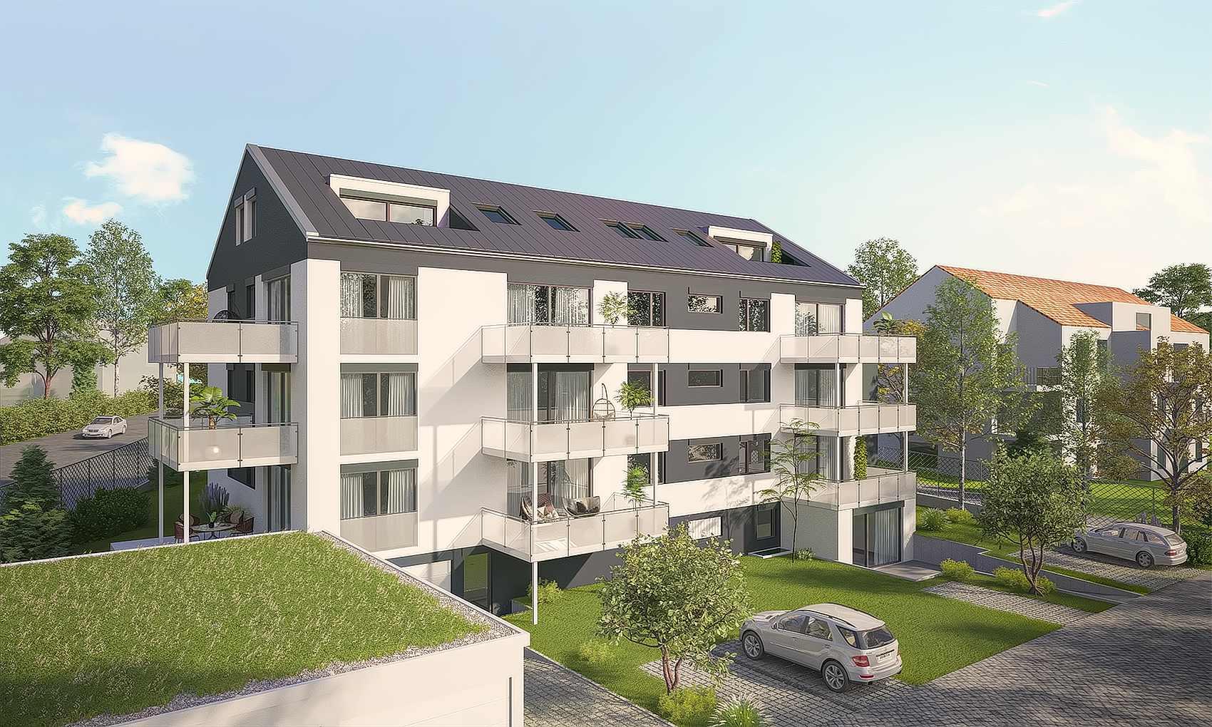 Architekturvisualisierungen eines MFH in Böblingen