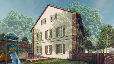 """3D Rendering Gasthaus """"Zum Goldenen Stern"""" in Rheinau"""
