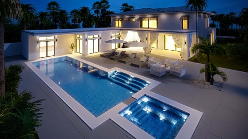Architekturvisualisierung in Florida, Nachtdarstellugn