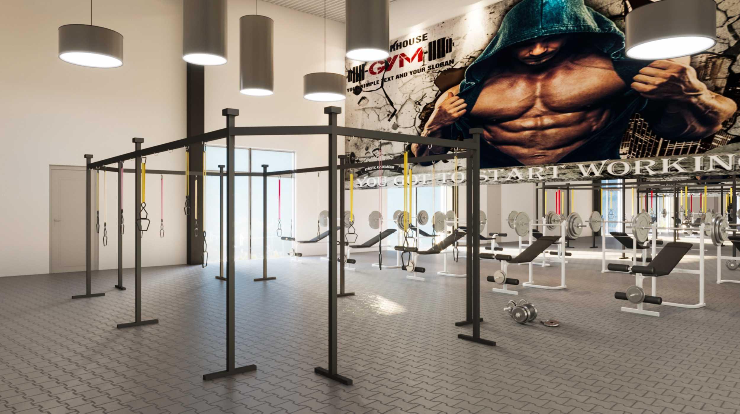 3D Visualisierung eines Fitnesscenters
