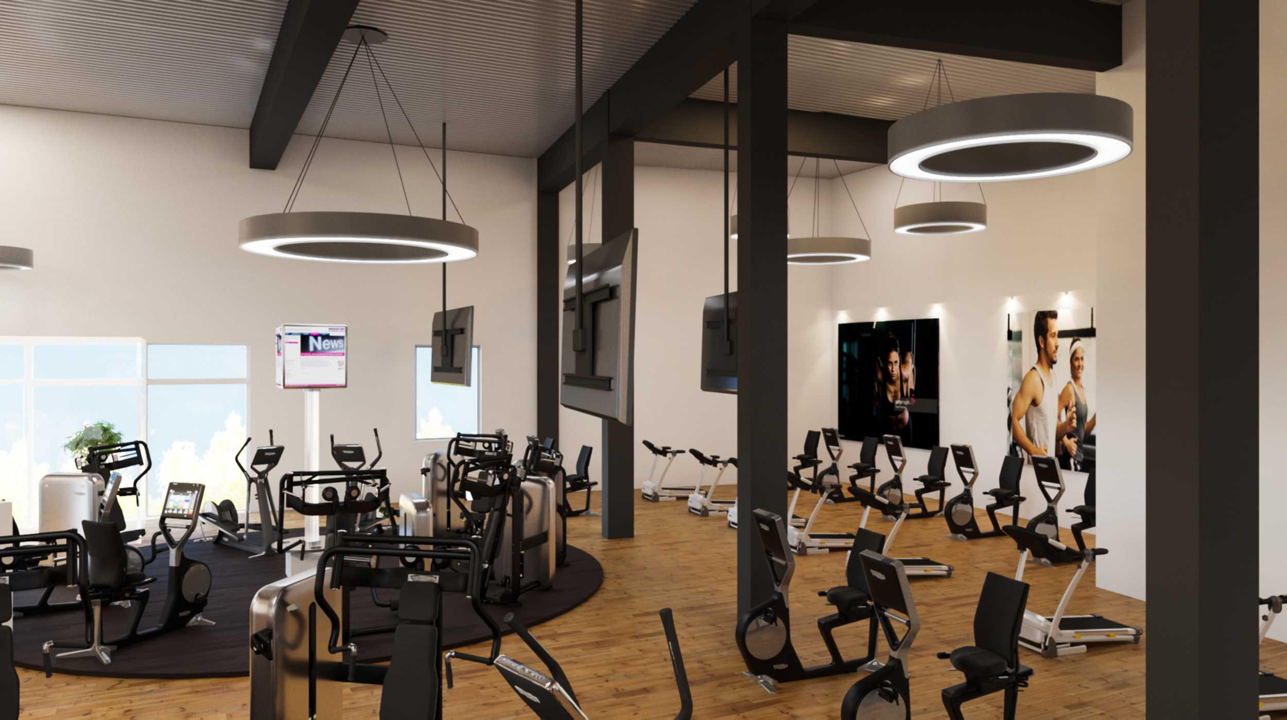 3d visualisierung fitnesscenter 4693 v2 v5 architektur und immobilien visualisierung. Black Bedroom Furniture Sets. Home Design Ideas