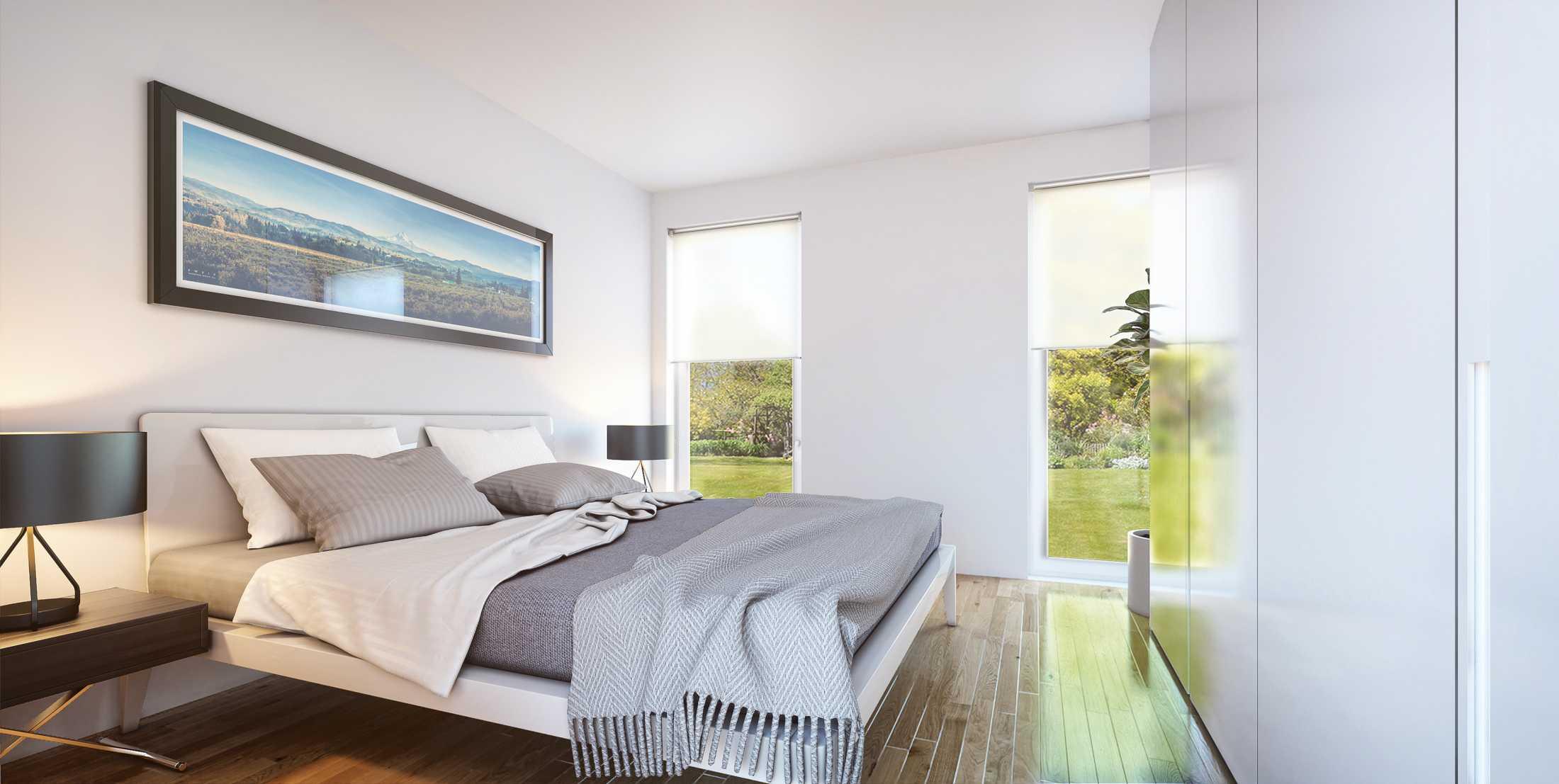 Wohnraum Visualisierung Schlafzimmer