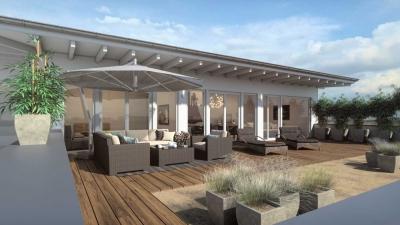 3D Rendering Dachterrasse Illingen