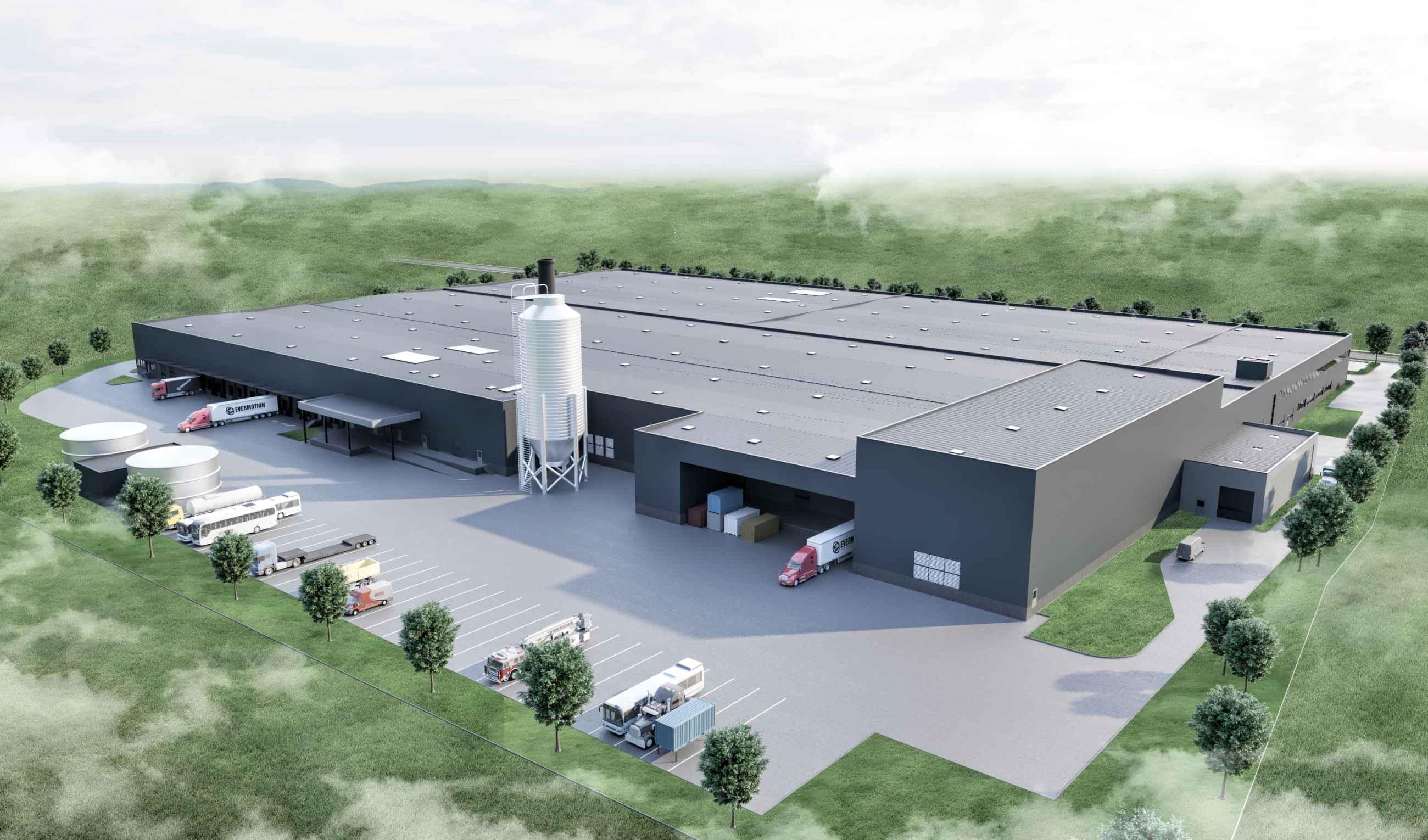 3D Rendering Fabrikgebäude