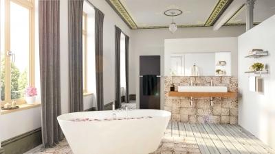 Innenvisualisierung eines Badezimmers