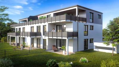 3D Architektur Rendering eines Mehrfamilienhauses mit 10WE