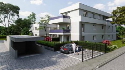 Gebäude Visualisierung MFH mit 10 WE in Schwabmünchen