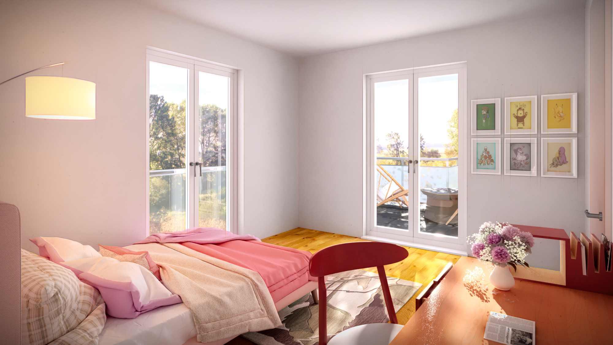 Architekturvisualisierung eines Kinderzimmers