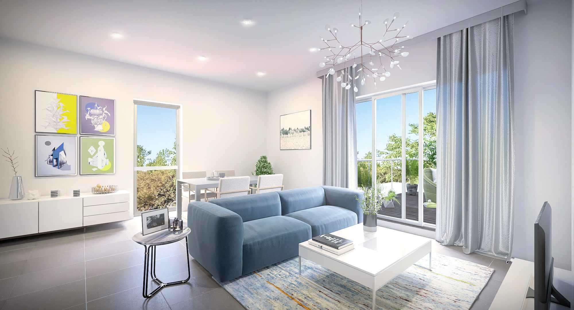 3D Visualisierung eines Wohnzimmers