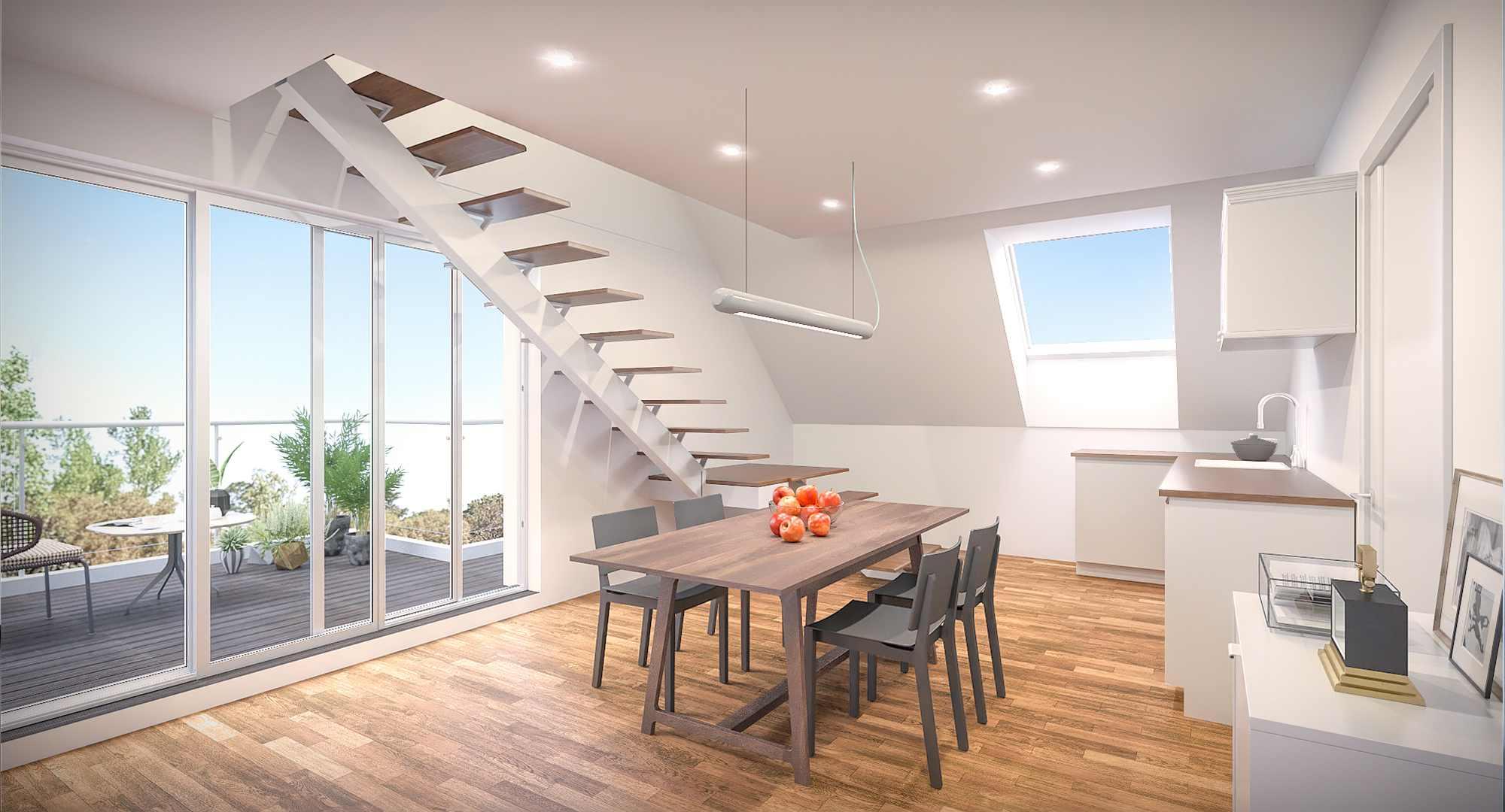 Architektur Visualisierung eines Wohnraumes