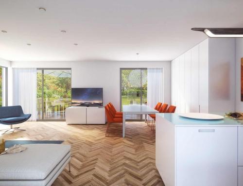 Architekturvisualisierung eines Wohnraumes