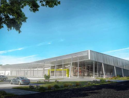 3D Rendering eines EDEKA Einkaufszentrums