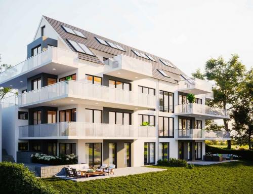 Immobilie als Renderbild