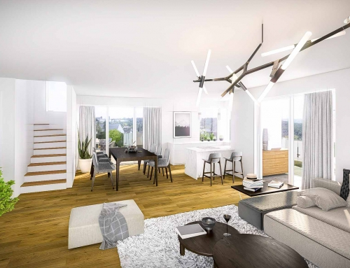 Immobilienvertrieb mit Renderings