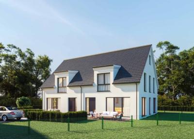 3D Renderings eines Mehrfamilienhauses als Verkaufsförderung. Für das Vekaufs Exposee wurde zm Neubau eines Mehrfamilienhauses ein 3D Rendering erstellt.