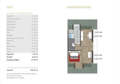 Dieses Projekt wurde in Archi-CAD 24 als PLN-Datei umgesetzt. Die Kosten für ein 2D Grundriss Expose beläuft sich auf 28€