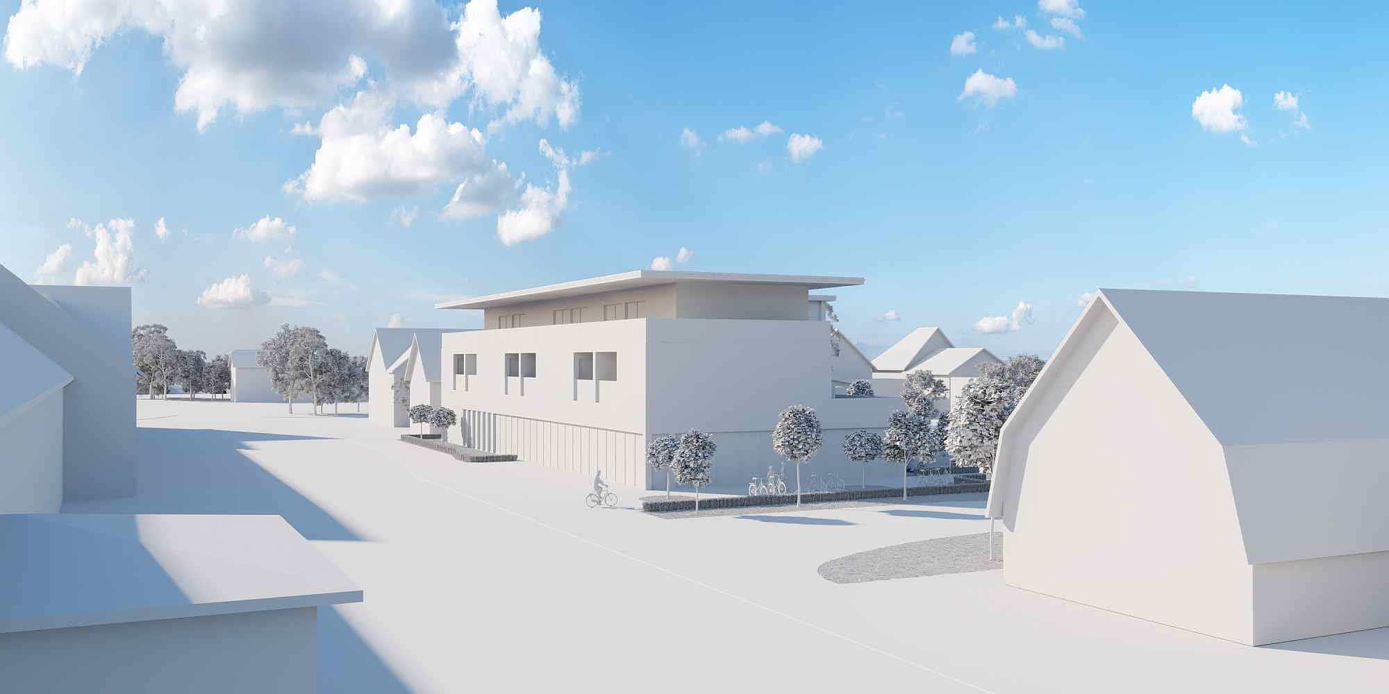 Mittels einer 3D Visualisierung können Bauvorhaben in unterschiedlichen Varianten dargestellt werden
